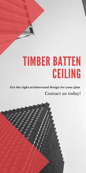 Timber batten ceiling